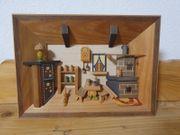 Holzbild Handarbeit 3D original Erzgebierge