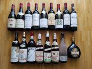 17 alte europäische Weine Jahrg