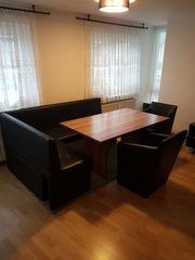 Esstisch mit Eckbank u Einzelsitzen