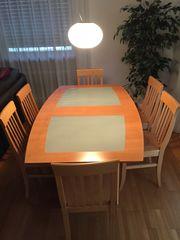 Esstisch vollholz mit 6 Stühlen