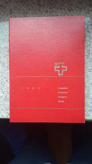 Briefmarken Schweiz Jahrbücher 1984-1992 komplett