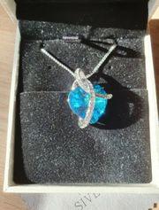 Swarovski Love Heart Blue