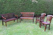Garten Terrassen Wintergarten-Ganitur aus Holz