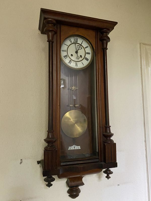 Gründerzeit Alte Uhr Wanduhr Pendeluhr Regulator Antik in