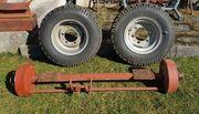 Traktor Anhänger Achse mit Pallonreifen