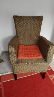 2 hochwertige Rattan Sessel