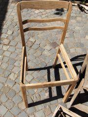 Stuhl Stuhlfragment reparaturbedürftig Dekoration