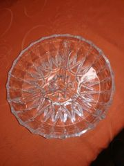 Kristall Schale rund 3geteilt Aufbewahrung