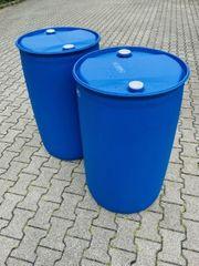 Regenwasssertonne - 220 Liter Kunststofffass - sauber