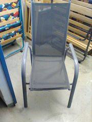 5 Gartenstühle Aluminium Hochlehner stapelbar