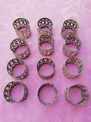 Servietten - Ringe Silber 12 Stück