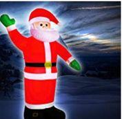 Weihnachtsmann aufblasbar mit Gebläse