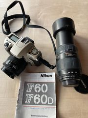 Nikon F60 analoge Spiegelreflexkamera mit