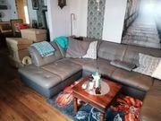 Eckgarnitur Leder Sofa U-Form Sitzecke