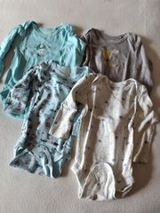 4 langarm Bodys