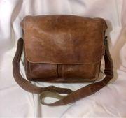 Leder Tasche Studenten- Lehrertasche Echtleder