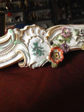 Sonstige Antiquitäten - Meissen Barock Großer Spiegel mit