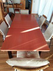 Esszimmertisch ausziehbar aus Holz mit
