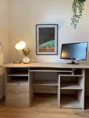 Schreibtisch in Farbe Eiche-Sägerau in