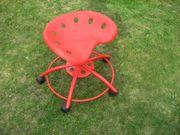 Bürostuhl Stuhl Schalenstuhl rot auf
