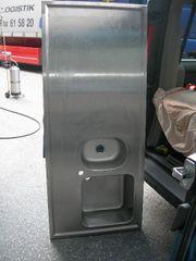 Edelstahl-Spültischabdeckung mit 2 Becken