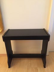 Klavierbank Holz dunkelbraun schwarz
