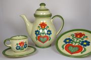 Kaffeeservice Jasba Keramik - Blumendekor 590864 -