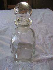 Apotheker-Glas-Flasche Klar-Glas mit Schliff-Stopfen Enghalsflasche
