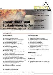 Brandschutzhelfer und Evakuierungshelfer Seminar