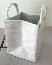 Vase Porzellan Tasche Dekotasche CILIO
