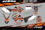KTM EXC 2005-2007 AUFKLEBER SET