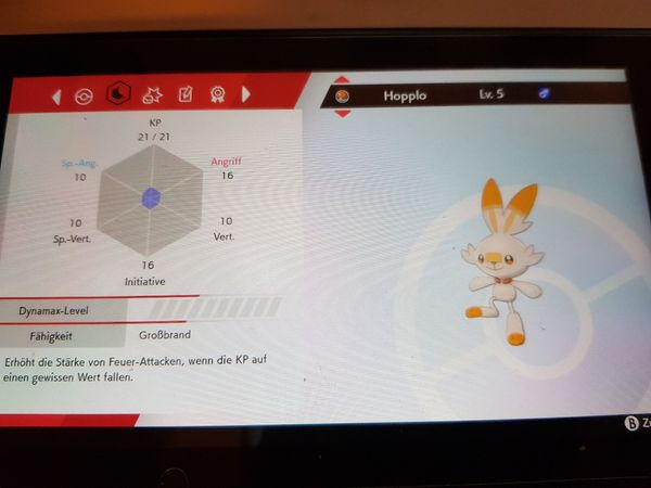 Pokemon Shiny Starter Schild Schwert