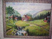 Ölbild -Landschaft