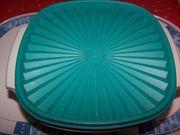 Tupperware Schüssel mit türkisfarbenem Deckel