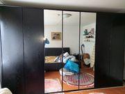 Kleiderschrank schwarz 350 cm breit