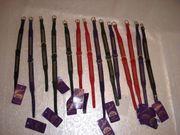 15 x Hundhalsband Leder Pitti