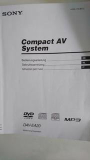 Sony Compact AV System DAV-EA