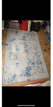Teppich in weiß türkis