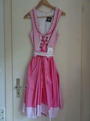 Dirndl Gr 38 Pink Weiß