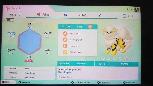 Pokemon Shiny Arkani Schwert Schild