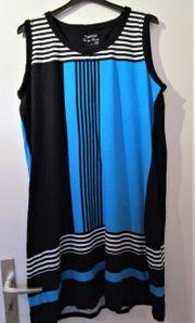 Da - Sommerkleid schwarz-blau-weiß gestreift Gr