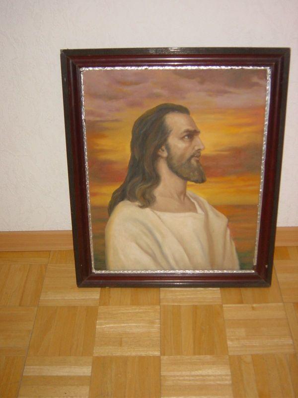 Denkende Jesus von Nazaret -Ölbild