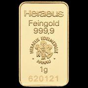 1 Gramm Heraeus Goldbarren in