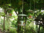 Vogelfutter-Etageren upcycling Futterhaus
