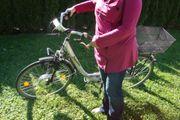 Silbriges ALU E-Bike