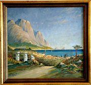 MeisterGemälde EDUARD EDLER 1887 Bucht
