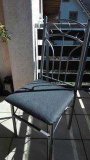 Esszimmer-Stuhl metall grau Schwarz -