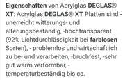 Acrylglas Deglas xt farblos 10