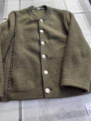 grüne Trachten-Jacke - Schurwolle - Gr 48 -