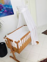 Babywiege aus Holz Komplettset